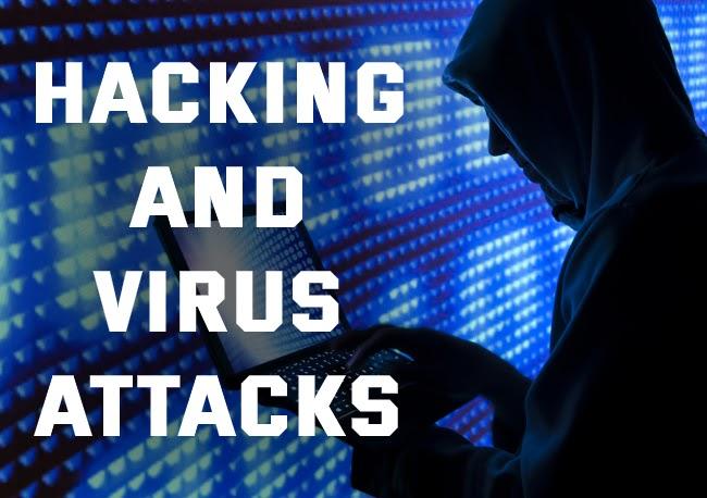 Hacking and virus attacks