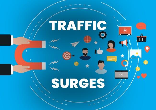 Traffic surges