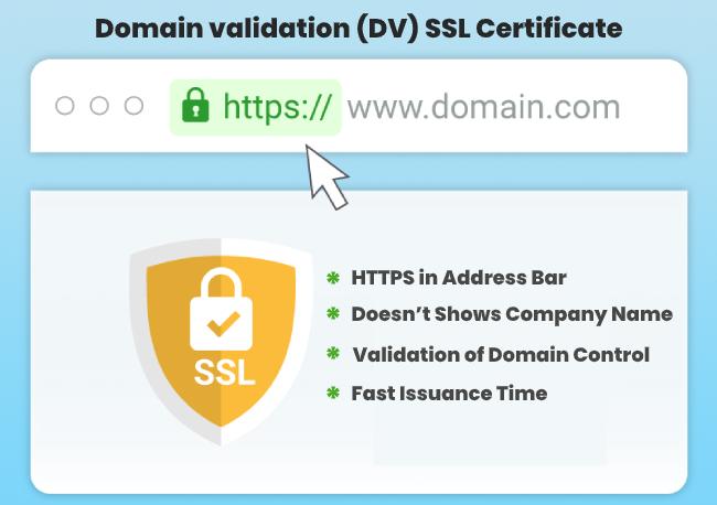 Domain validation (DV) SSL Certificate