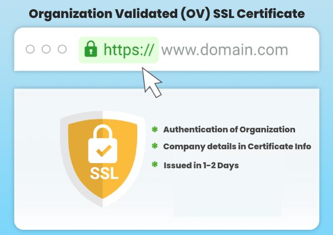 Organization Validated (OV) SSL Certificate