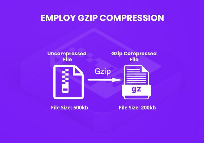 Employ Gzip compression.